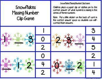 Kindergarten Math Centers--January