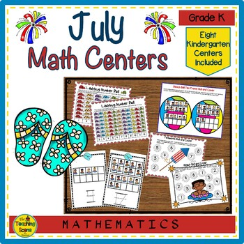 Kindergarten Math Centers--July