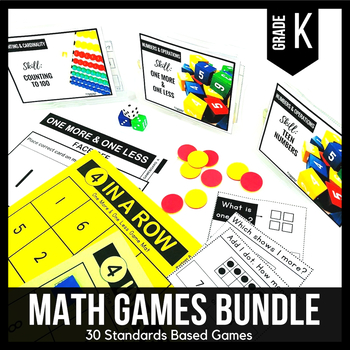 Kindergarten Math Centers | Kindergarten Math Games BUNDLE - Ready Set Play