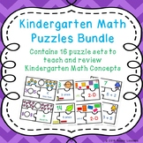Math Games Kindergarten Math- Bundle of Puzzles