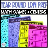Kindergarten Math Games and Centers Low Prep