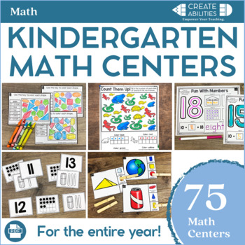 Kindergarten Math Centers MEGA Bundle