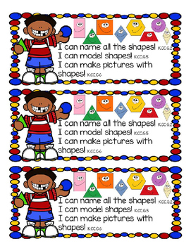 Kindergarten Math Centers Made Easy-September Shapes