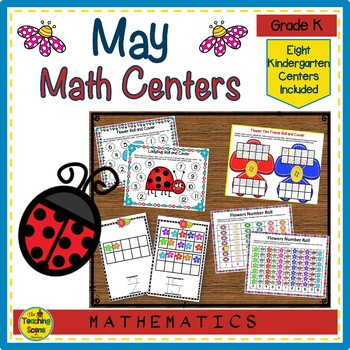 Kindergarten May Themed Math Centers: Counting, Number Order, Facts & More