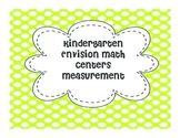 Kindergarten Math Centers: Measurement (Topic 12 Envision Math)