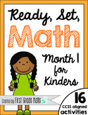 Kindergarten Math Centers for Month 1