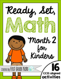 Kindergarten Math Centers for Month 2