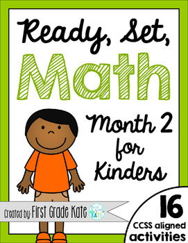 Kindergarten Math Centers for Month 2