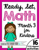 Kindergarten Math Centers for Month 3