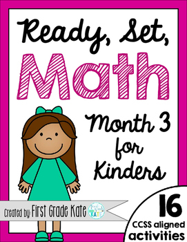 Kindergarten Math Centers for Month 3