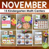 Kindergarten Math Centers - NOVEMBER