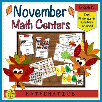 Kindergarten Math Centers--November