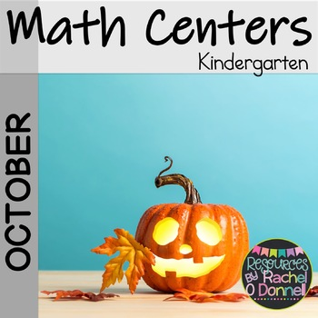 Kindergarten Halloween Math Centers October