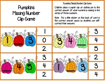Kindergarten Math Centers--October