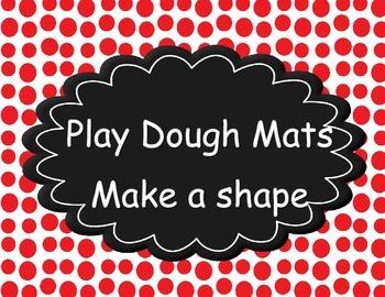 Kindergarten Math Centers - Play Dough Shape Mats