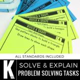 Kindergarten Math Centers | Problem Solving Tasks