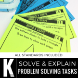 Kindergarten Math Centers | Problem Solving | Solve and Explain