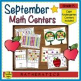 Kindergarten Math Centers:  September