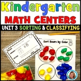 Kindergarten Math Centers - Sorting and Classifying Activities