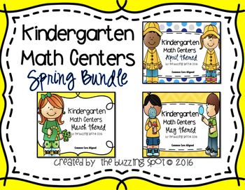 Kindergarten Math Centers: Spring Bundle