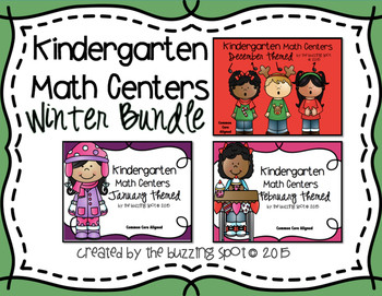 Kindergarten Math Centers: Winter Bundle