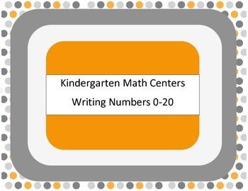 Kindergarten Math Centers - Writing Number 0-20