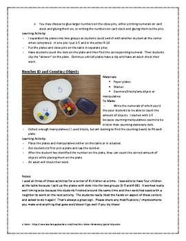 Kindergarten Math Centers You Can Make!