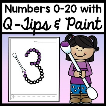 Kindergarten Math Center Activities with Q Tip Numbers {Numbers 0-20!}