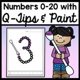 Kindergarten Math Center Activities with Q Tip Numbers {Numbers 0-20!}