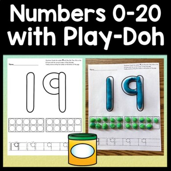 Number Playdough Mats {Pages for Numbers 0-20!}