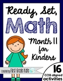 Kindergarten Math Centers for Month 11 (End of the Year or Summer School)