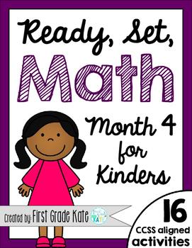 Kindergarten Math Centers for Month 4