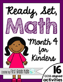 Kindergarten Math Centers for Month 4