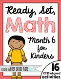 Kindergarten Math Centers for Month 6