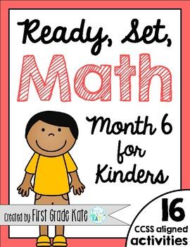 Kindergarten Math Centers for Month 6