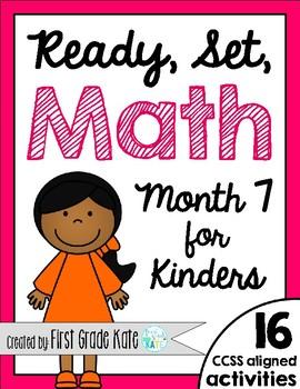 Kindergarten Math Centers for Month 7