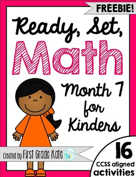 Kindergarten Math Centers for Month 7 FREEBIE!