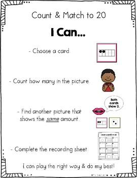 Kindergarten Math Centers for Month 9