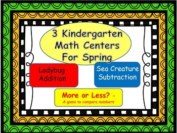 Kindergarten Math Centers for reviewing skills