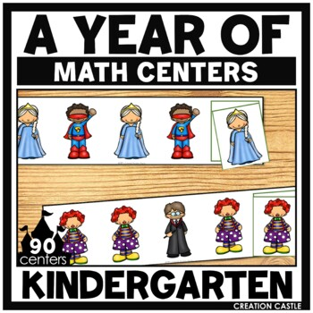 Kindergarten Math Centers for the Year