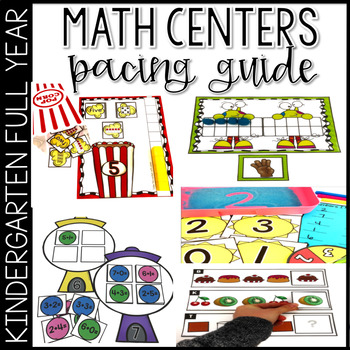 Kindergarten Math Centers for the Year Guide
