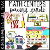Math Activities for Kindergarten Pacing Guide