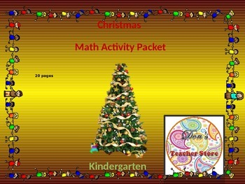 Kindergarten Math Christmas