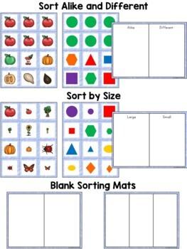 Kindergarten Math ~ Classifying Objects