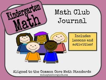 Kindergarten Math Club Interactive Journal