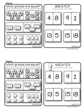 Kindergarten Math Common Core Assessment Booklet