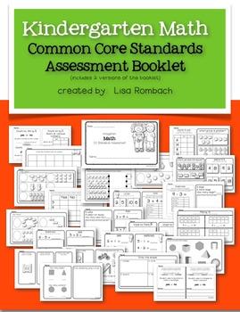 Kindergarten Math Common Core Assessment Booklet
