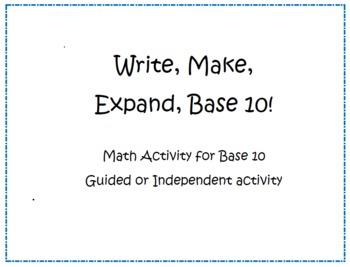 Kindergarten Math Common Core Base 10 Activity