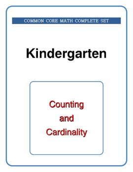 Kindergarten Math - Common Core - Complete Set - Cutting a