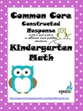 Kindergarten Math Common Core Constructed Response with Ma